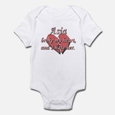 Asia broke my heart and I hate her Infant Bodysuit