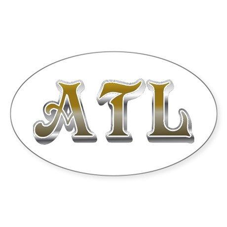 Atlanta Georgia ATL Oval Sticker