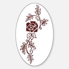 Elegant Rose Oval Decal