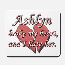 Ashlyn broke my heart and I hate her Mousepad