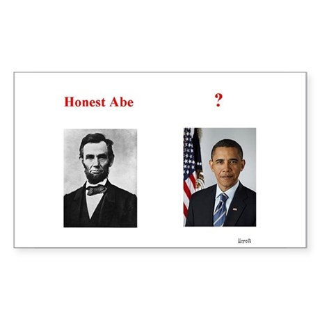 Honest Abe Rectangle Sticker