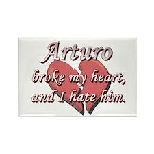 Arturo broke my heart and I hate him Rectangle Mag