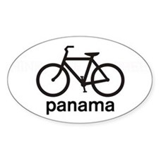 Bike Panama Oval Decal