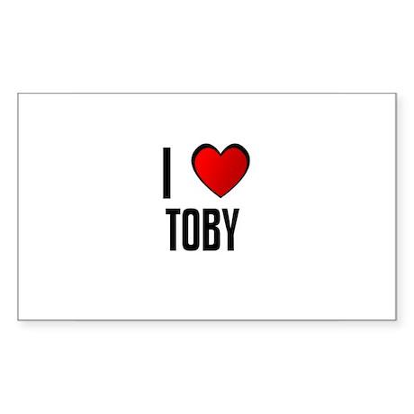 I LOVE TOBY Rectangle Sticker