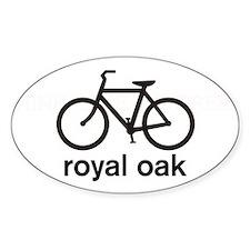 Bike Royal Oak Oval Bumper Stickers