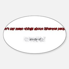 Illiterate Oval Decal