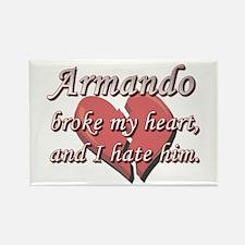 Armando broke my heart and I hate him Rectangle Ma