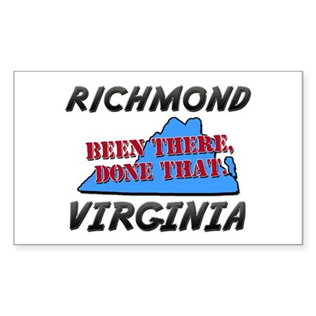richmond virginia - been there, done that Sticker
