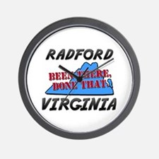 radford virginia - been there, done that Wall Cloc