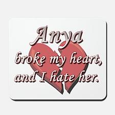 Anya broke my heart and I hate her Mousepad
