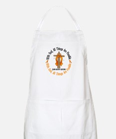 With God Cross Kidney Cancer BBQ Apron