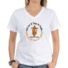 With God Cross Kidney Cancer Shirt