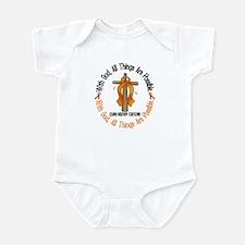 With God Cross Kidney Cancer Infant Bodysuit