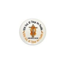 With God Cross Kidney Cancer Mini Button (10 pack)