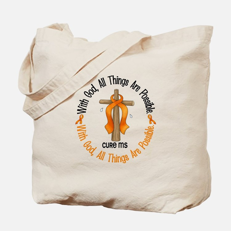 With God Cross MS Tote Bag