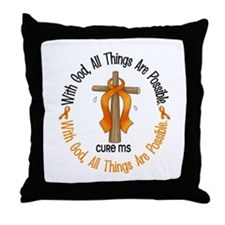 With God Cross MS Throw Pillow