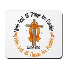 With God Cross MS Mousepad