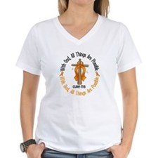 With God Cross MS Shirt