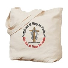With God Cross Parkinson's Tote Bag