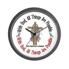 With God Cross Parkinson's Wall Clock