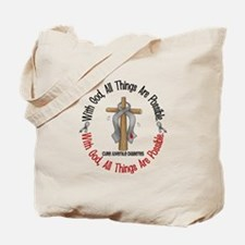 With God Cross Juvenile Diabetes Tote Bag