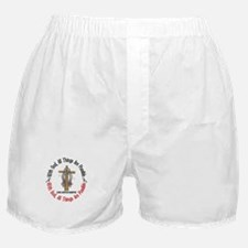 With God Cross Juvenile Diabetes Boxer Shorts