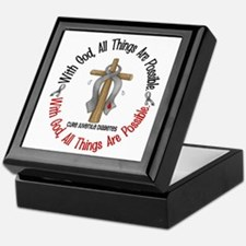 With God Cross Juvenile Diabetes Keepsake Box