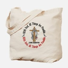 With God Cross Diabetes Tote Bag
