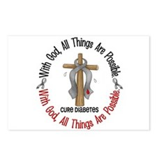 With God Cross Diabetes Postcards (Package of 8)