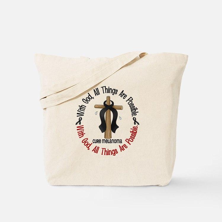 With God Cross Melanoma Tote Bag