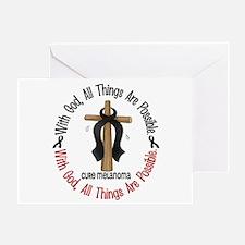 With God Cross Melanoma Greeting Card