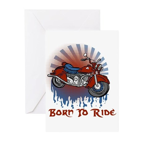 Born to Ride Greeting Cards (Pk of 10)