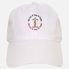 With God Cross Lung Cancer Baseball Baseball Cap