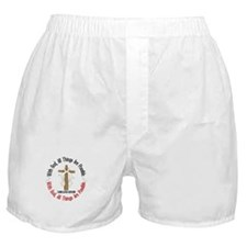 With God Cross Lung Cancer Boxer Shorts