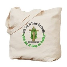 With God Cross Cerebral Palsy Tote Bag