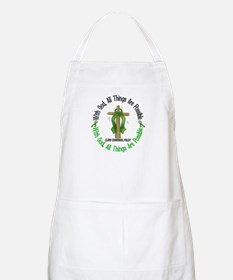 With God Cross Cerebral Palsy BBQ Apron