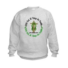 With God Cross Cerebral Palsy Sweatshirt