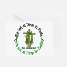 With God Cross Cerebral Palsy Greeting Card