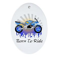Born to Ride Street Oval Ornament