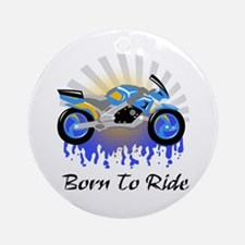Born to Ride Street Ornament (Round)