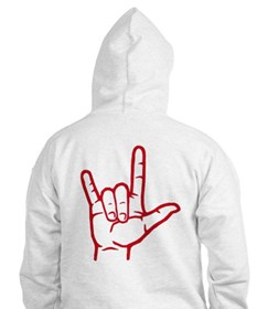 Bright Red I Love You Hoodie