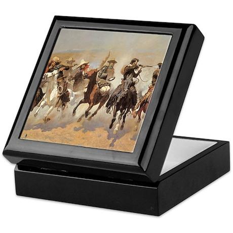 A Dash For Timber by Remington Keepsake Box