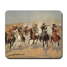 A Dash For Timber by Remington Mousepad