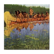 Great Explorers by Remington Tile Coaster