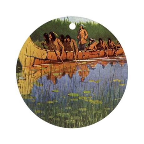 Great Explorers by Remington Ornament (Round)