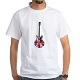 Rock and roll Mens White T-shirts
