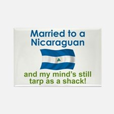 Married to a Nicaraguan Rectangle Magnet