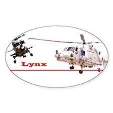 Lynx Helicopter Oval Decal