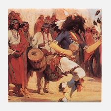 Buffalo Dance by Cassidy Tile Coaster