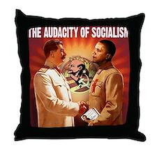 communist obama Throw Pillow